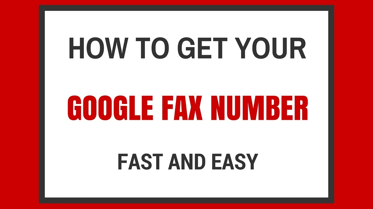 How to Get Your Free Google Fax Number - Google Fax Online