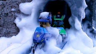 PATRULLA CANINA y la AVALANCHA!!!! PAW PATROL atrapados en la NIEVE!! Patrulla de cachorros SNOW