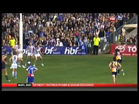2013 Round 8 - Rascal Of The Week - North Melb Players On Th