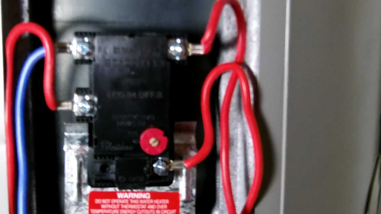 small resolution of water heater upper thermostat wiring