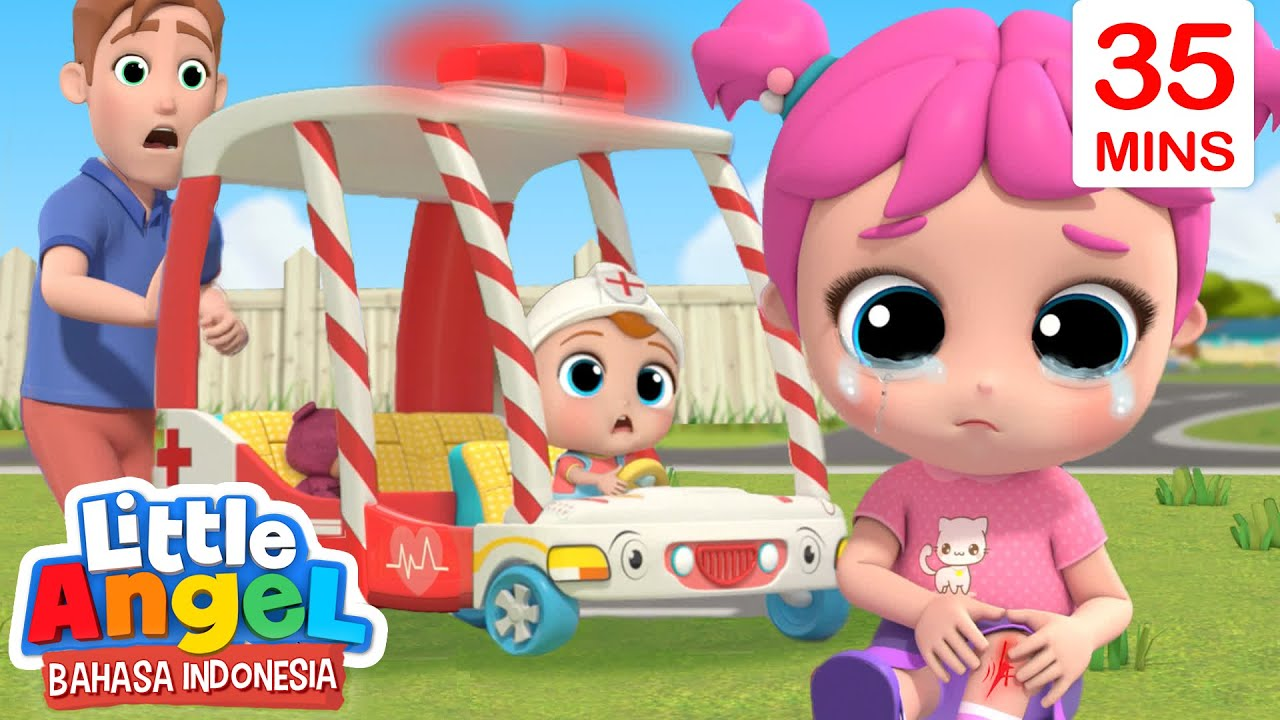 Mobil Ambulans Super Siap Membantumu Kartun Anak Little Angel Bahasa Indonesia Youtube