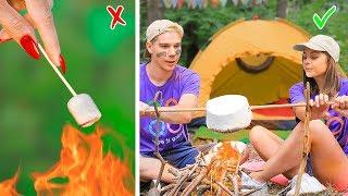 12 طريقة غريبة لتمرير الكاندي لمخيم المدرسة / مقالب التخييم واللعب