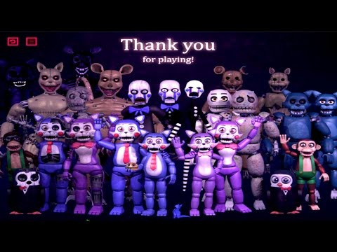 Five Nights at Candy's 3 EXTRAS || ALL ANIMATRONICS