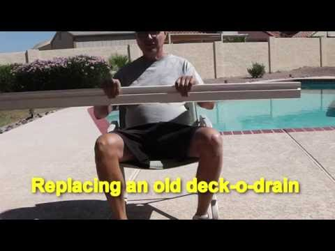 Deck O Drain Repair Youtube