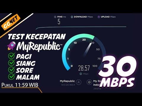 Stabilkah?? Test Kecepatan Internet MyRepublic Di Waktu Pagi, Siang, Sore & Malam