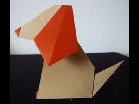 How To Make An Origami Nodding Dog (HD)