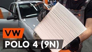 Kā nomainīt Salona filtrs VW POLO (9N_) - tiešsaistes bezmaksas video