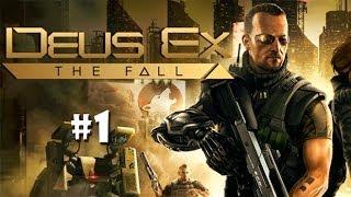 Начинаем прохождение игры DeusEx The Fall Игра сама по себе интересная но к сожалению нет русской локализации