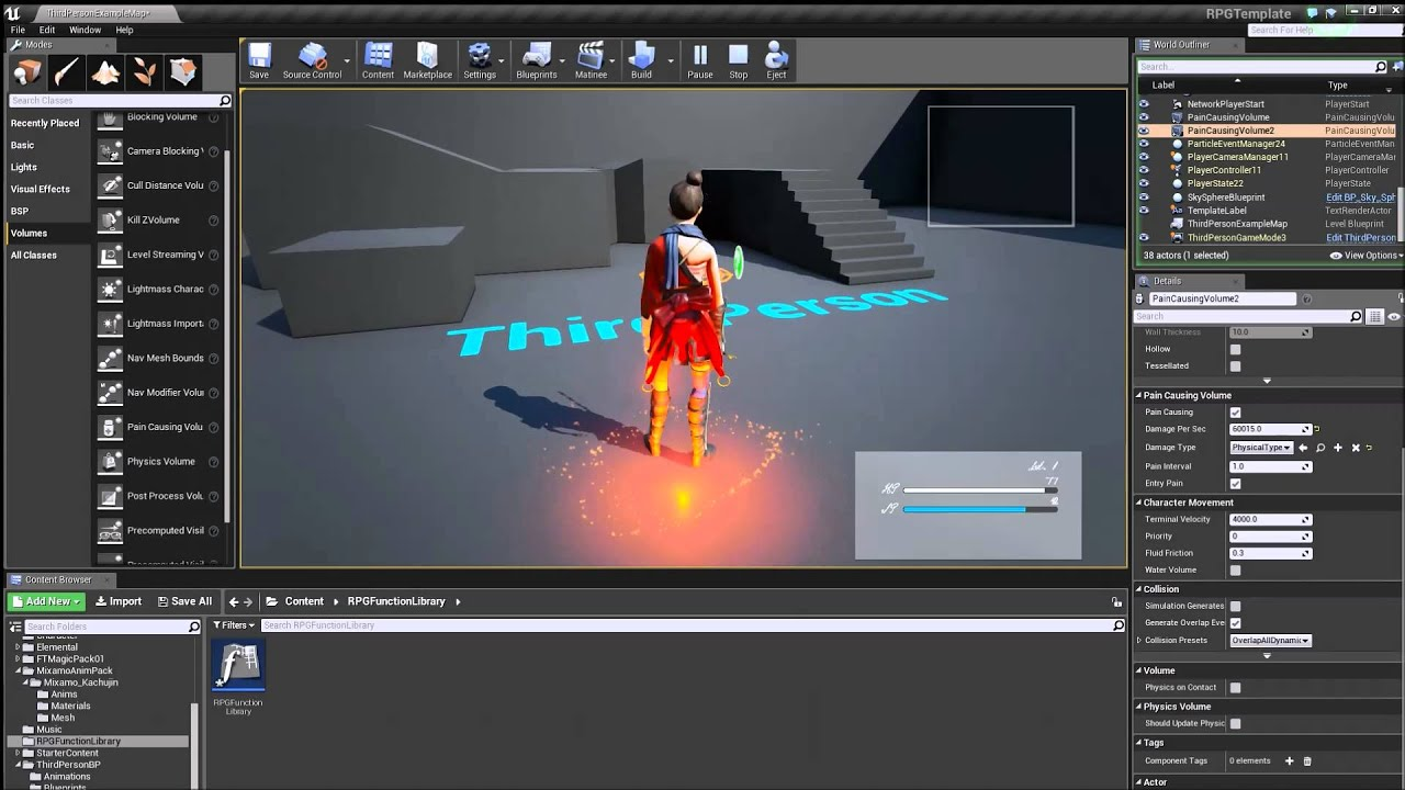 RPG Template Unreal Engine 4 - YouTube