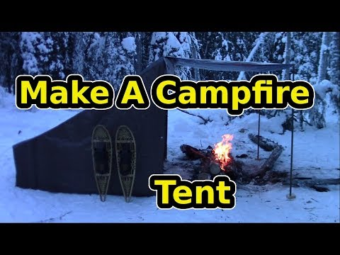 Make A quality Campfire (Baker)Tent On the Cheap