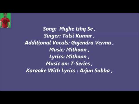 Barish Mujhe Ishq Se Karaoke Whith Lyrics Female Version=Yaariyan