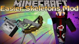 Minecraft Easier Skeletons Mod - 1.5 Skeletons Shoots Slow Again!