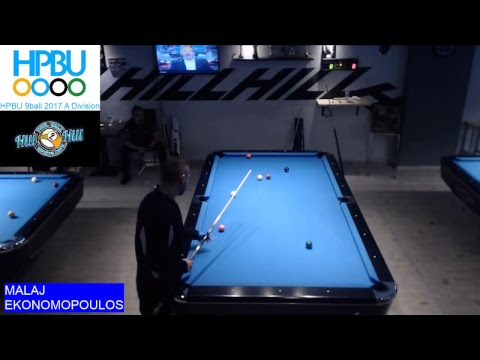 Nick Malai - Nikos Ekonomopoulos (HPBU 9ball 2017 - A Division) 26/11/17
