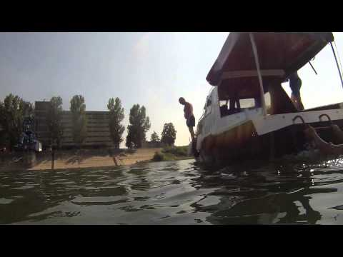A Day out on the Sava River in Obrenovac Serbia (filmed using the Action+ 1080p Cam)