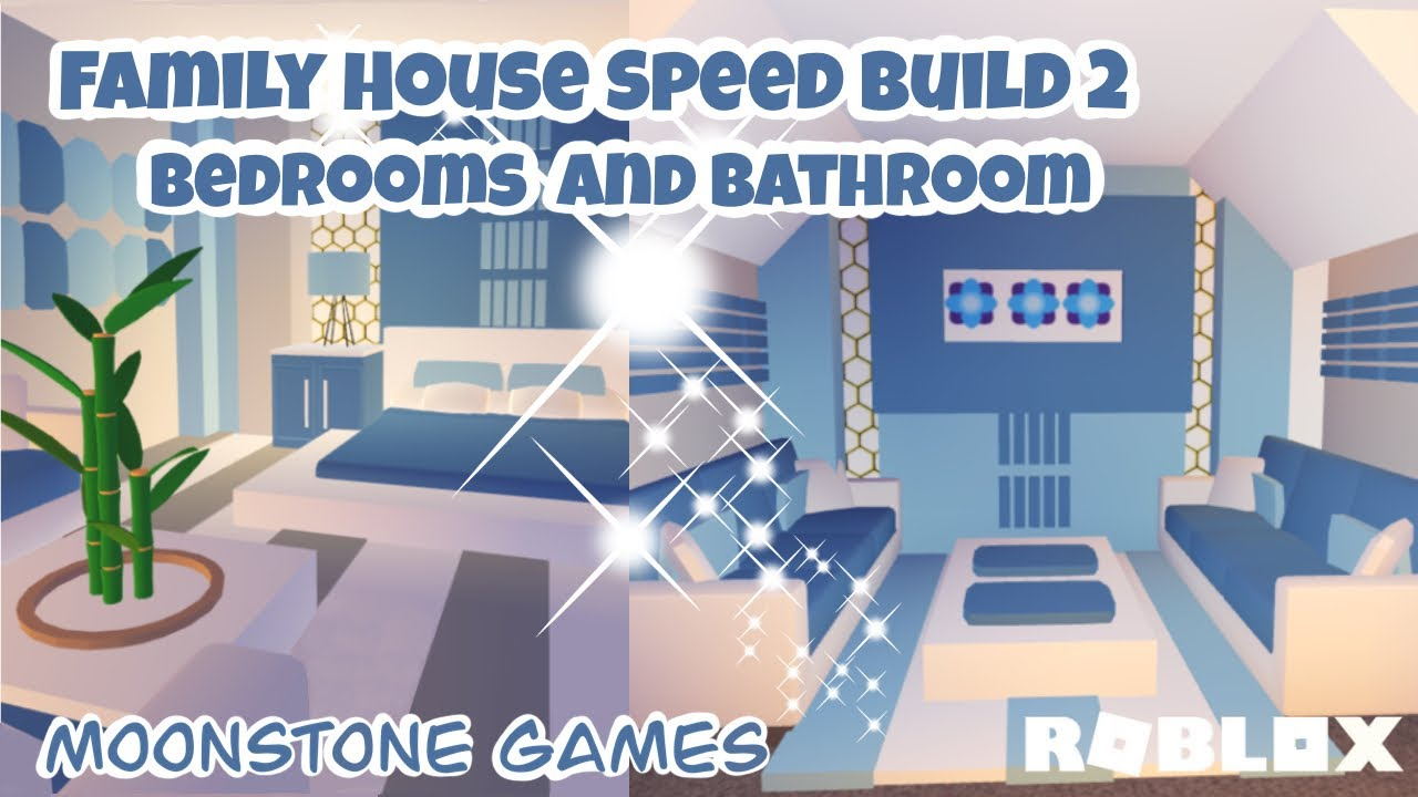 Adopt Me Family House Speed Build Part 2 Bedrooms Bathroom Aesthetic Home Youtube