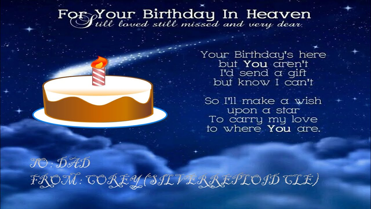 Birthday Wishes For Father In Heaven ~ Beautiful happy birthday wishes for father in heaven