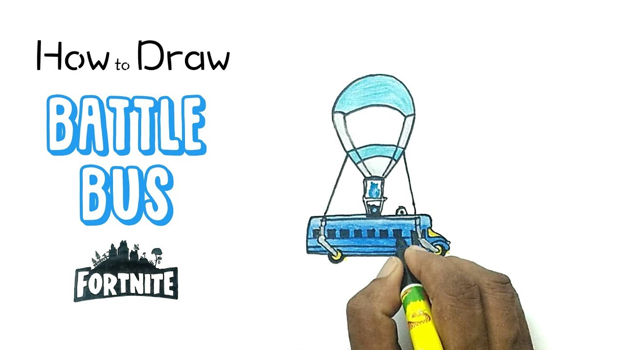 How To Draw The Battle Bus From Fortnite Youtube