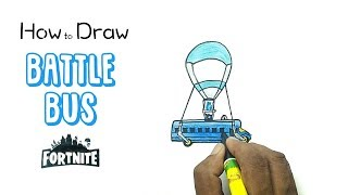 How to Draw the Battle Bus from Fortnite