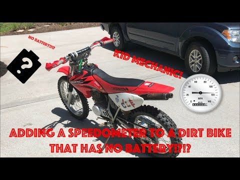 How to Install a Speedometer on a Dirt Bike That Dosen't Have a Battery!?