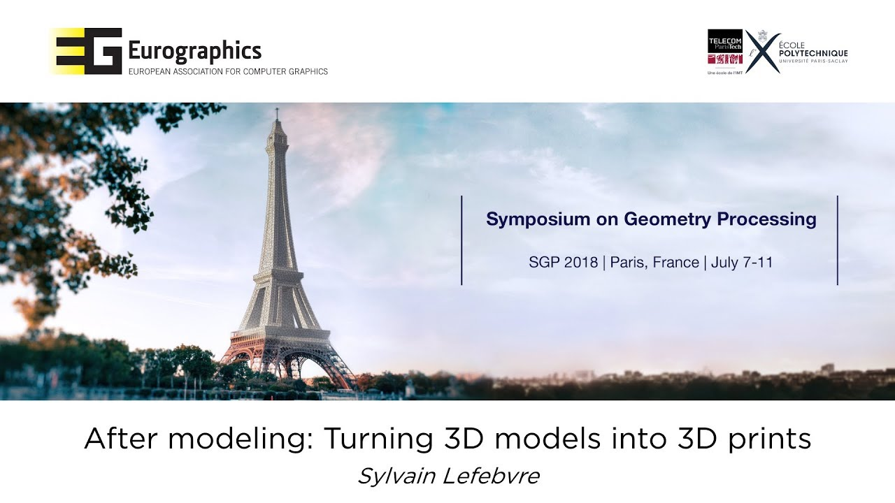 The Eurographics Symposium on Geometry Processing (SGP) 2018