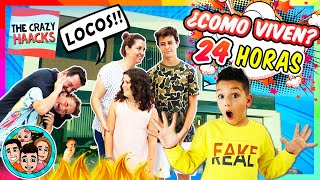 ⚠️ Como Viven THE CRAZY HAACKS ⁉🤩 Rutina 24 HORAS con MATEO HUGO y LADY PECAS en la MANSION 💥🏠