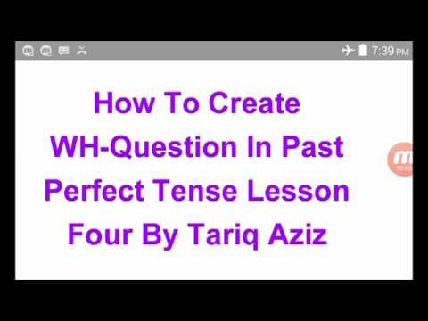 Wh-Questions In the Past Perfect Simple Tense