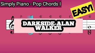 Download Simply Piano| darkside |Pop Chords I |Piano Tutorial