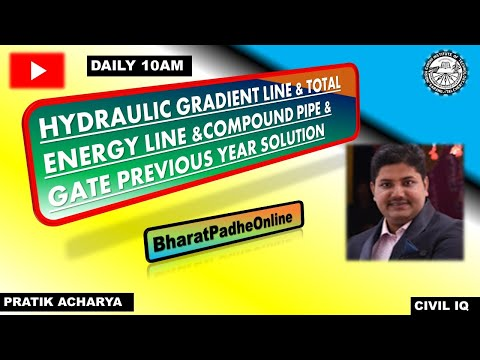 #BharatPadheOnline| HYDRAULIC GRADIENT LINE|TOTAL ENERGY LINE|COMPOUND PIPE| #GATE #PROBLEM |#TEQIP