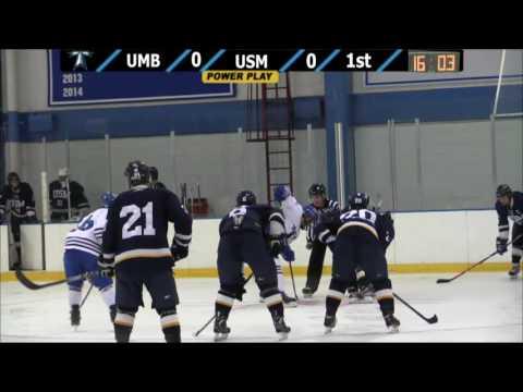 UMass Boston Men's Hockey Vs. University Of Southern Maine (12/6/14) Webcast