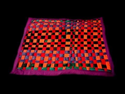 পুরানো কাপড়ে পাপোষ/ How to make doormat by recycle clothes/Doormat