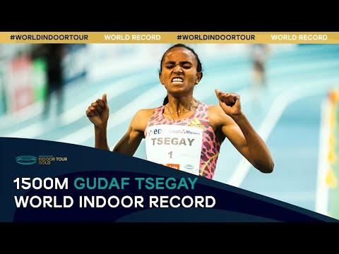 Women's 1500m World Indoor Record - Gudaf Tsegay | World Athletics Indoor Tour