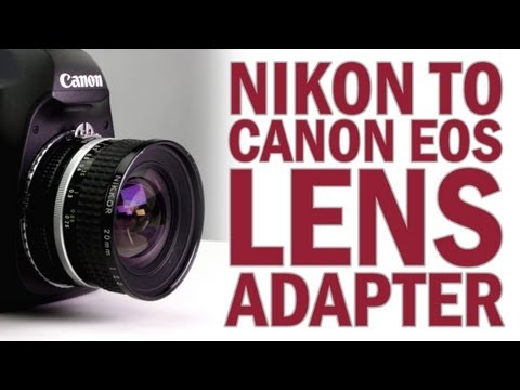 Nikon F Lens to Canon EOS Camera Lens Mount Adapter from Fotodiox Pro