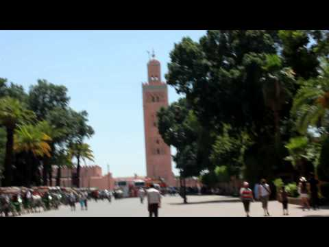 Marrakech, Morocco - A call from the Koutoubia Mosque