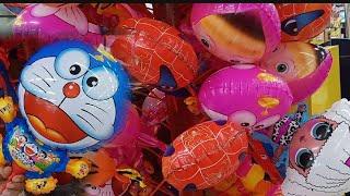 Anak Lucu Minta di Beliin Balon, Balon Doraemon Lucu Banget | dzakira beli Mainan Balon