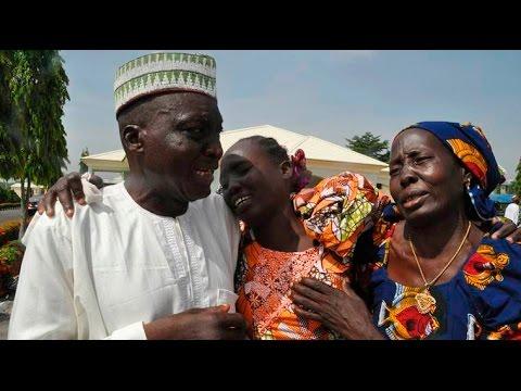Nigerian schoolgirls freed from Boko Haram meet families after 3 years