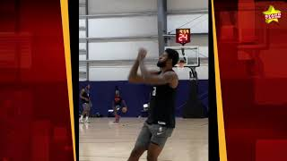 Lakers' LeBron James, Anthony Davis, and Clippers' Kawhi Leonard, PG13 practice in the NBA bubble