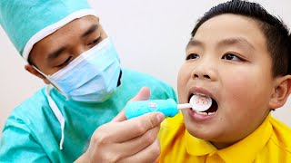 Going To The Dentist Song | Alex Pretend Play Sing-Along to Nursery Rhymes Kids Songs