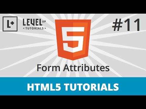 HTML5 Tutorials #11 - Form Attributes