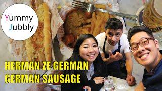 Herman Ze German in Soho London. AWESOME GERMAN SAUSAGES