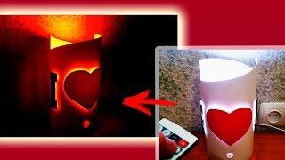 Светильник своими руками из трубы ПВХ - Подарок на день святого Валентина / ПВХ ночник