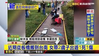 悚!抱2歲子遊墾丁龍磐公園 母遭遙控飛機砸死