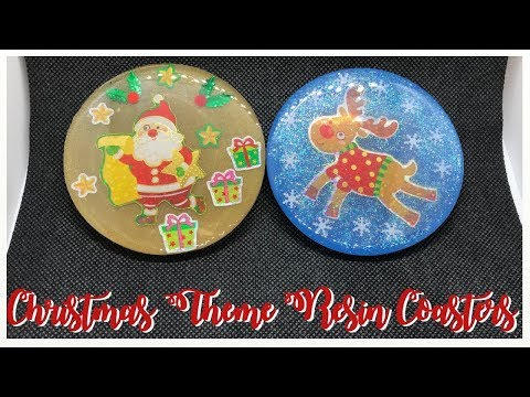 DIY RESIN Christmas Cup Coasters | 12 Days of CRAFTmas | Day 12