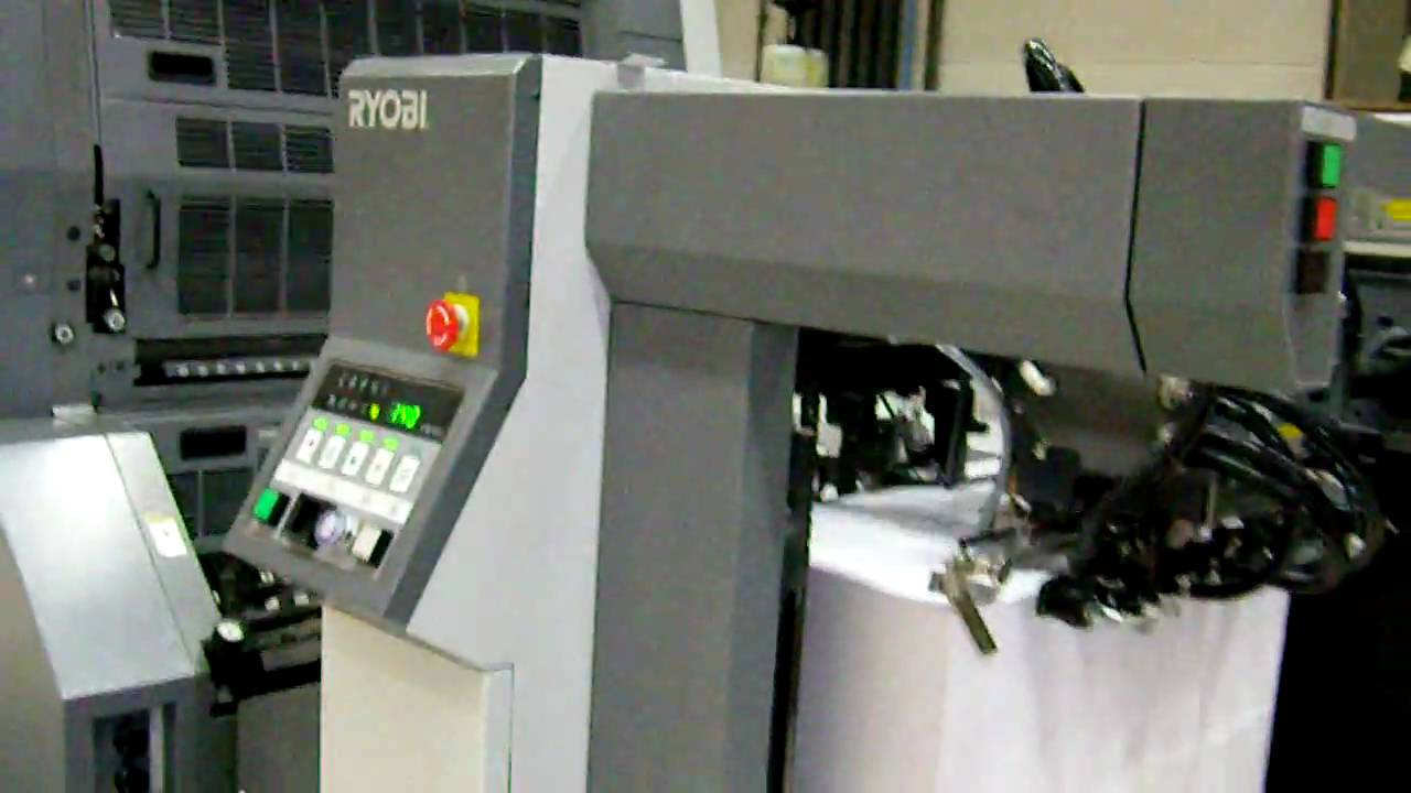 Ryobi 750 offset press at finesse druk youtube publicscrutiny Images
