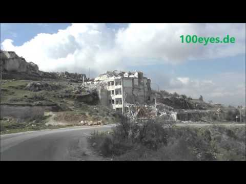 Ariha Idlib Syria visited at 22th Feb 2016 showing the city and destructions