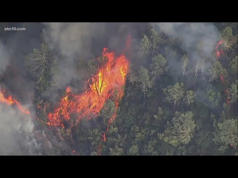 Images as fire explodes across the Napa Valley