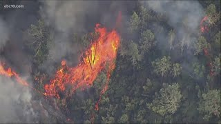 Dozens of fires burning in California   California wildfires