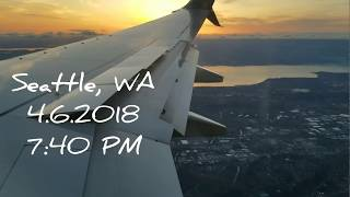 Landing at Seattle/Tacoma Int'l Airport at SUNSET