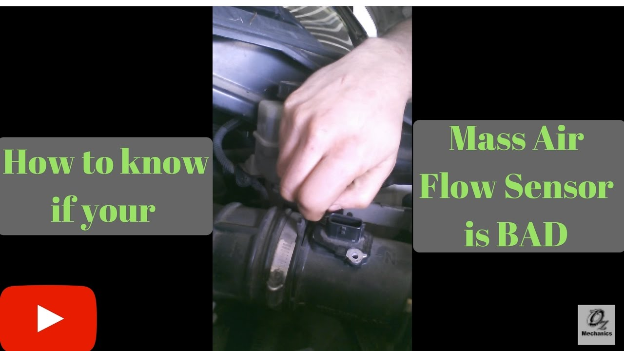 Video contest: How to know if the mass air flow sensor is bad  YouTube