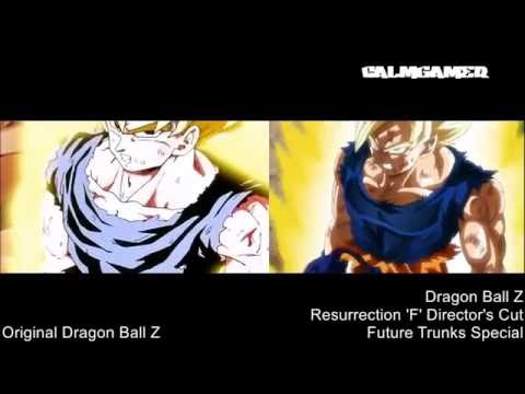 Goku Turns Super Saiyan Comparison (Original Vs Remake)