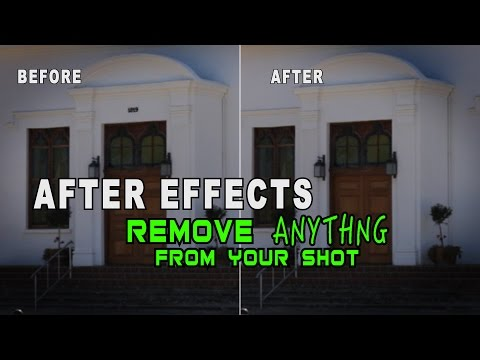After Effects Tutorial - How To Remove Anything From Your Shot